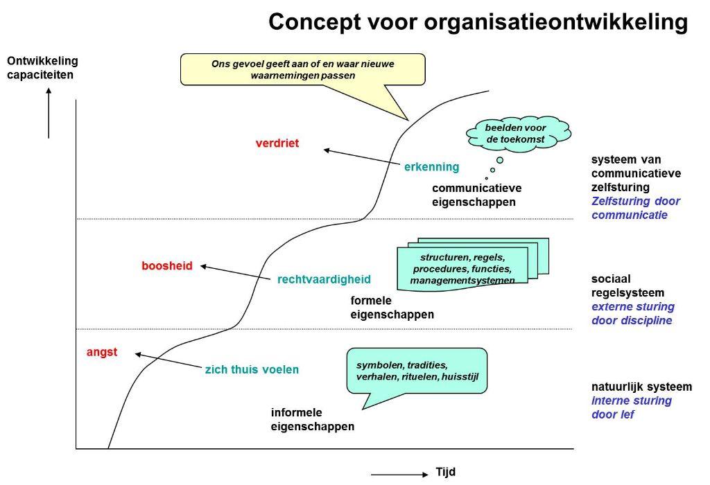 Model voor organisatieontwikkeling in de tijd